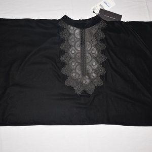 NWT - ZARA Black Crop Top